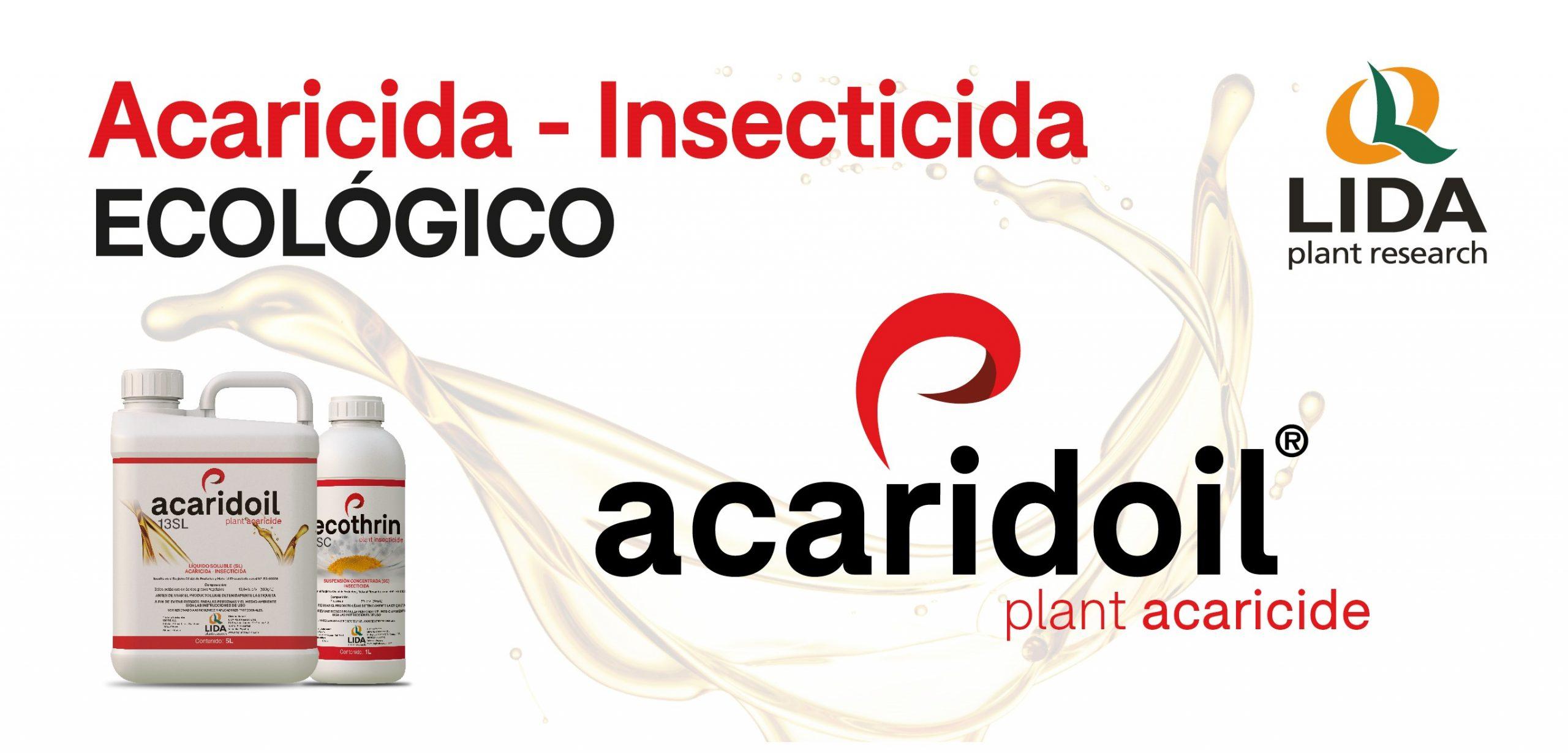 ACARIDOIL®, acaricida-insecticida ecológico para el control de Tuta Absoluta, Araña, Mosca blanca y otras plagas