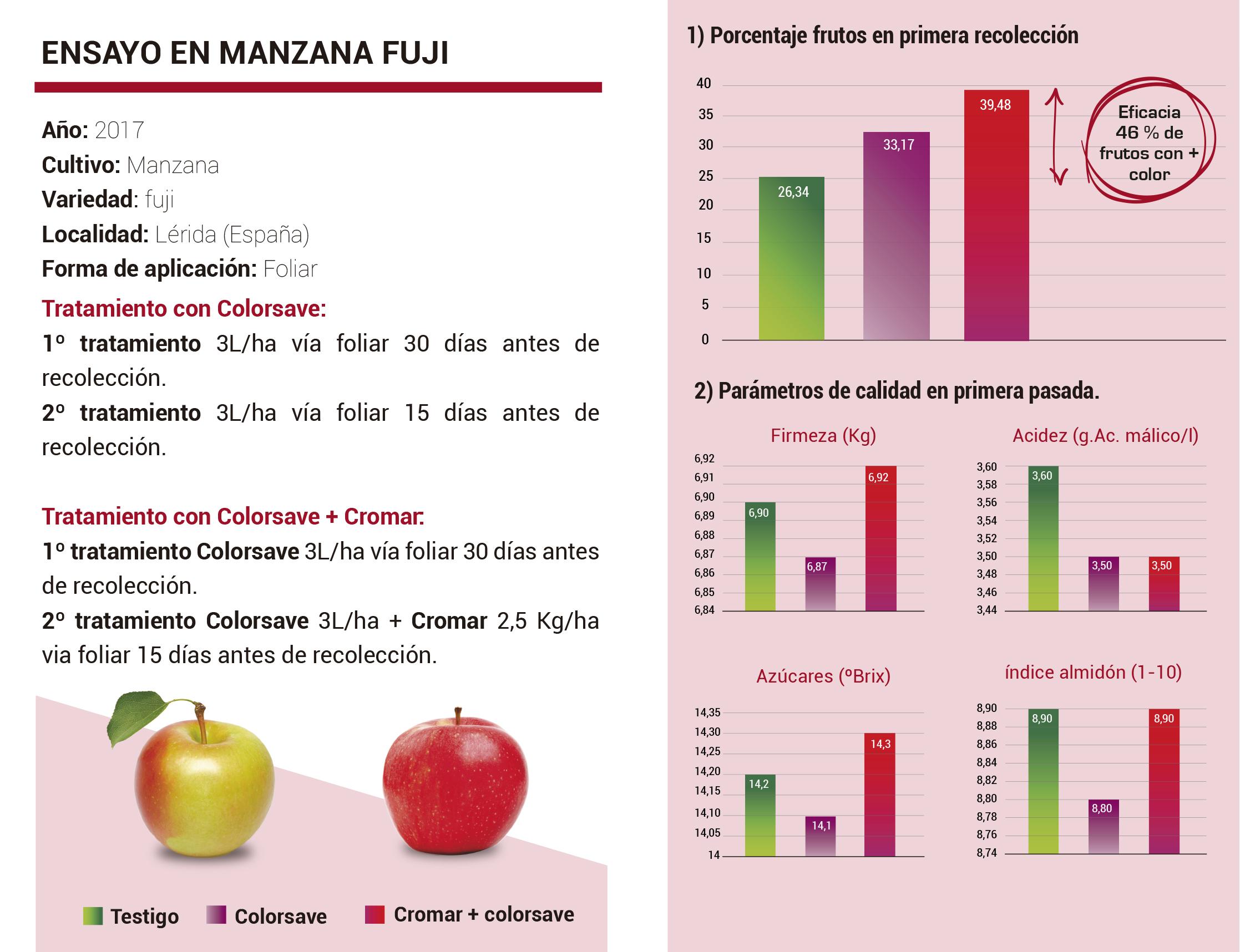 coloración en manzana