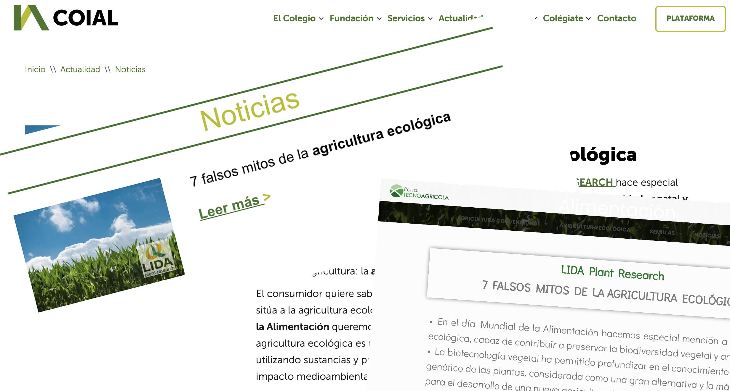 Así se hicieron eco los medios: Los 7 falsos mitos de la agricultura ecológica