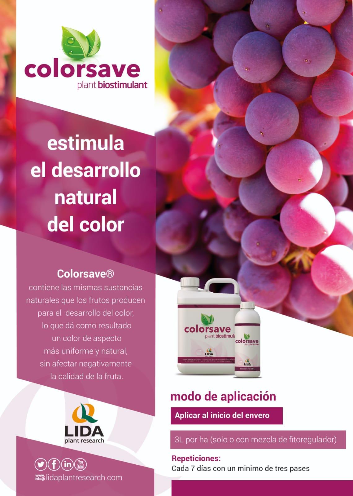 estimular el color de la uva de mesa